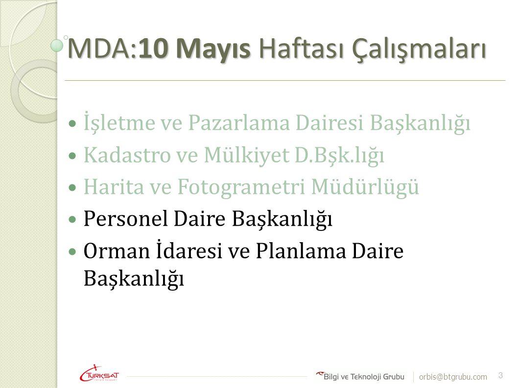 MDA:10 Mayıs Haftası Çalışmaları