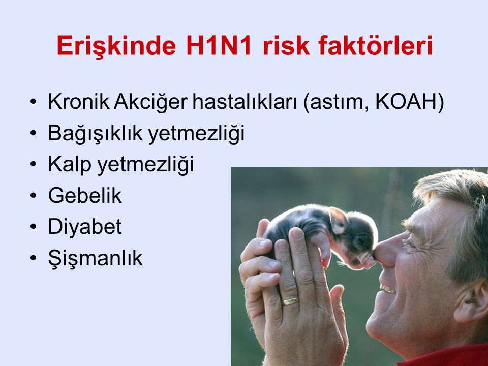 Erişkinde H1N1 risk faktörleri