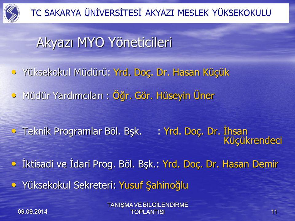 Akyazı MYO Yöneticileri