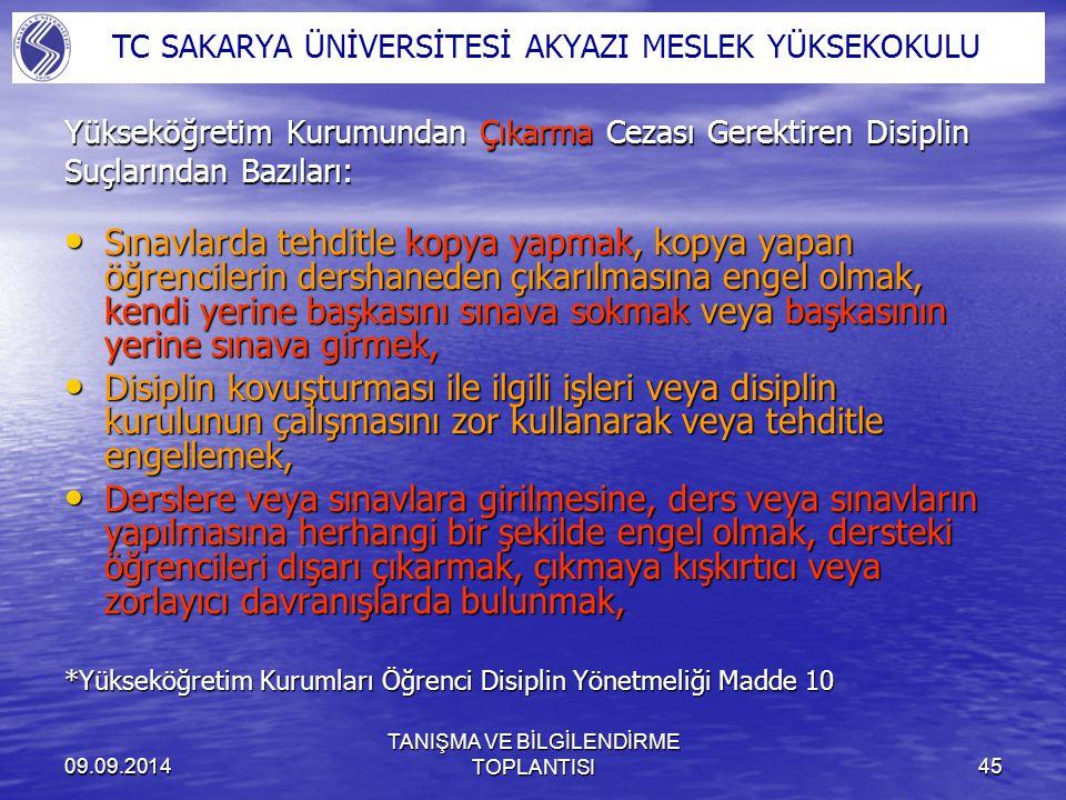 TANIŞMA VE BİLGİLENDİRME TOPLANTISI