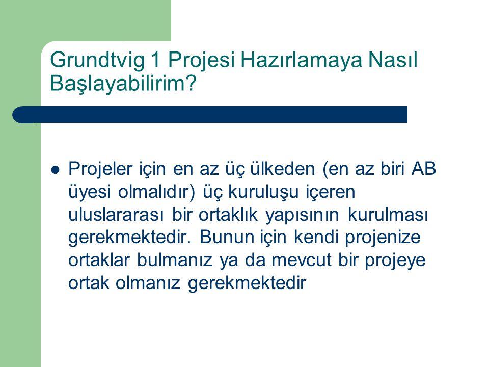 Grundtvig 1 Projesi Hazırlamaya Nasıl Başlayabilirim