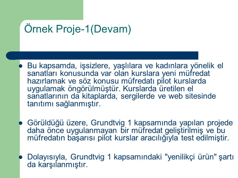 Örnek Proje-1(Devam)