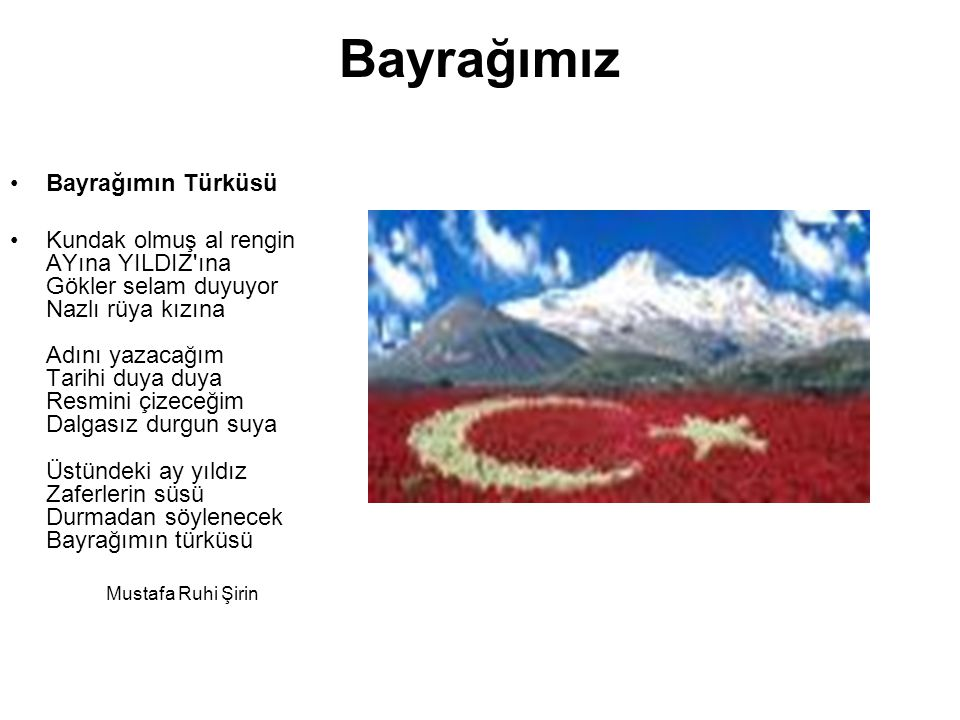 Bayrağımız Bayrağımın Türküsü