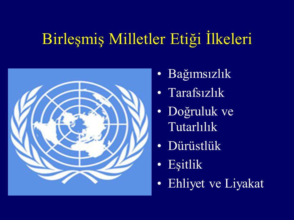 Birleşmiş Milletler Etiği İlkeleri