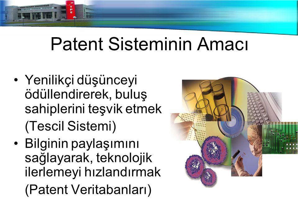 Patent Sisteminin Amacı