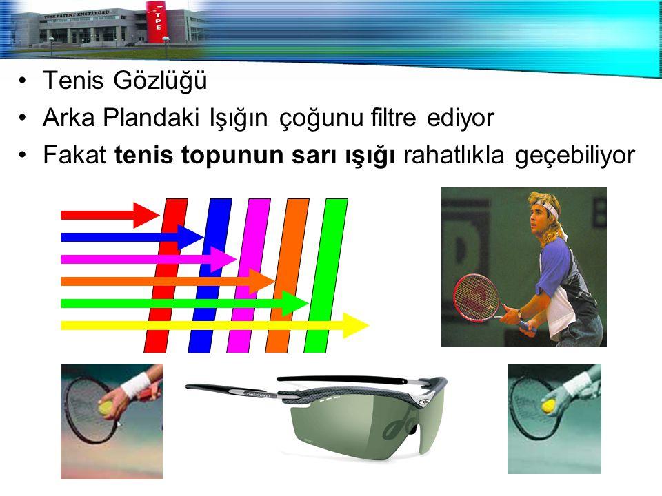 Tenis Gözlüğü Arka Plandaki Işığın çoğunu filtre ediyor.