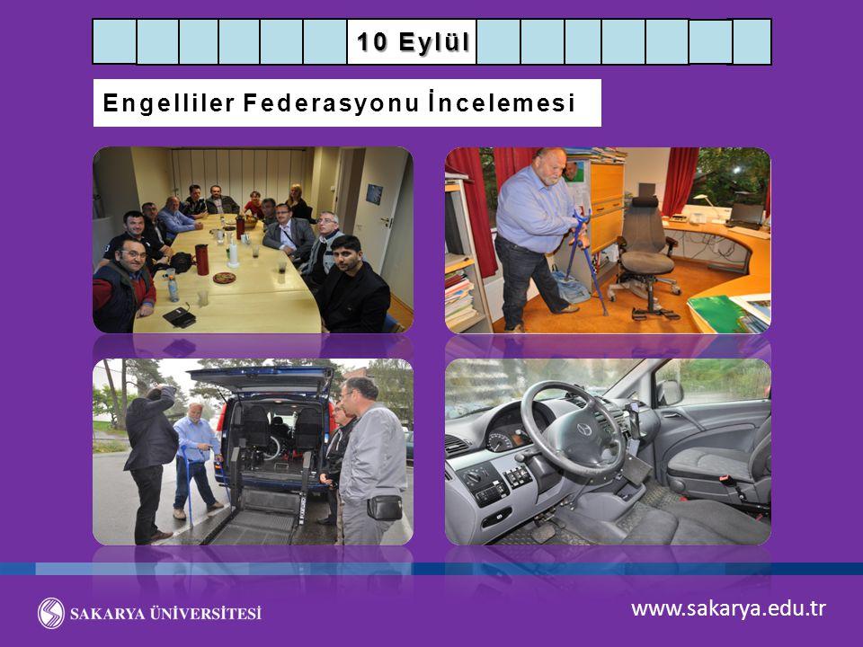 10 Eylül Engelliler Federasyonu İncelemesi www.sakarya.edu.tr
