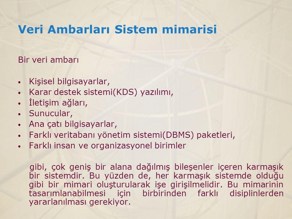 Veri Ambarları Sistem mimarisi