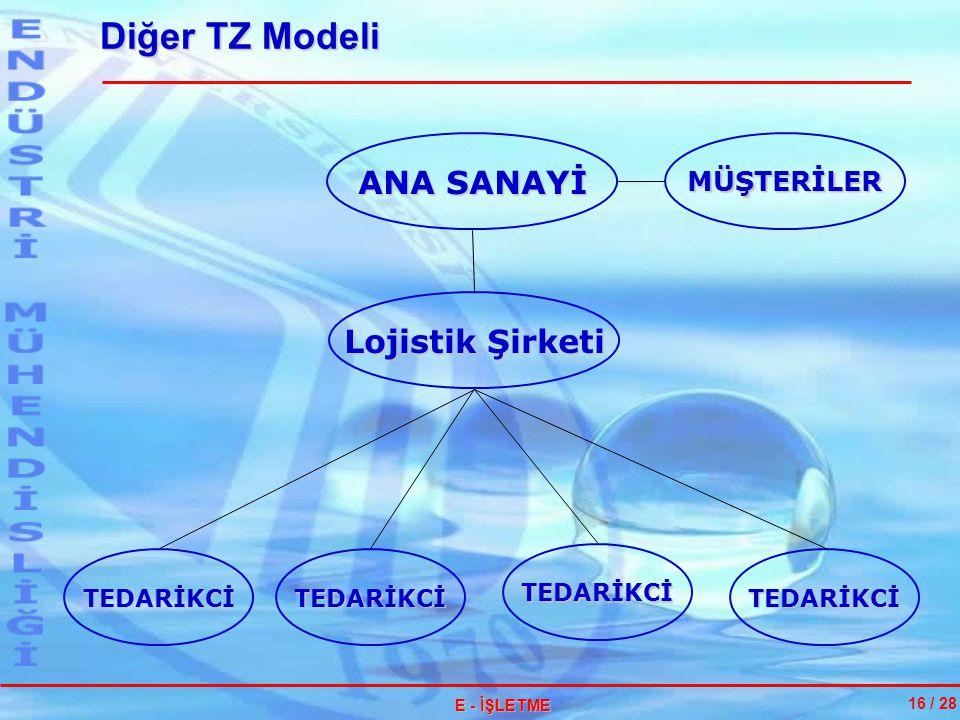 Diğer TZ Modeli ANA SANAYİ Lojistik Şirketi MÜŞTERİLER TEDARİKCİ