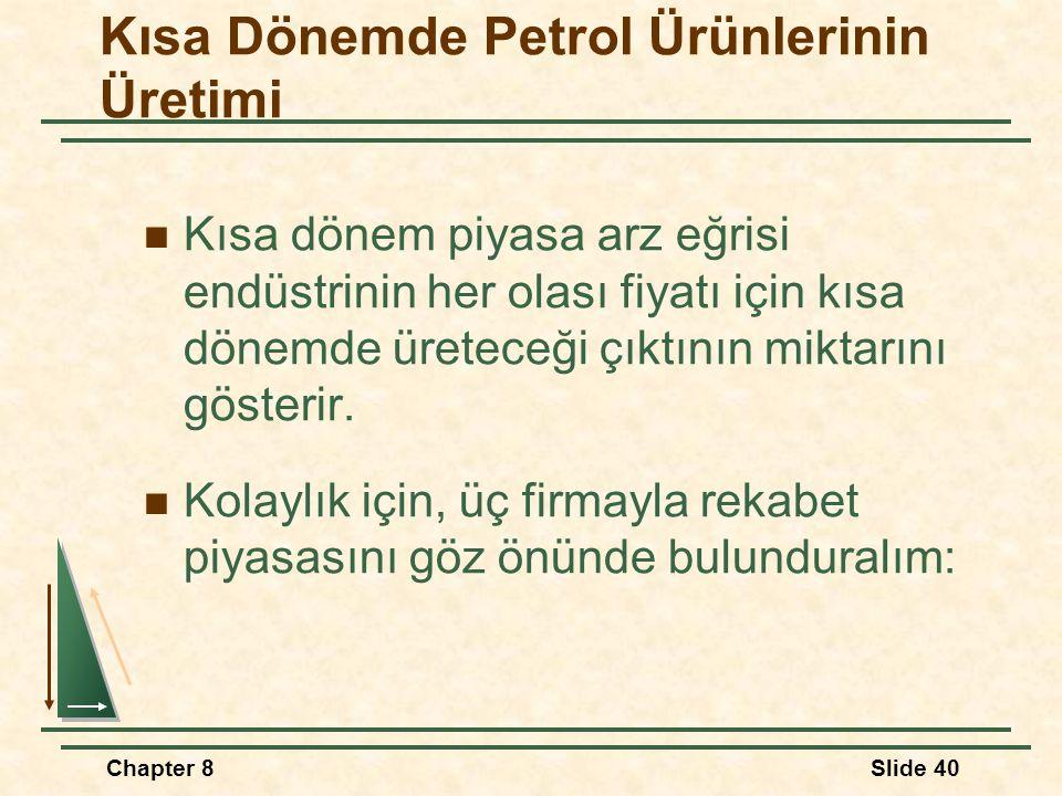 Kısa Dönemde Petrol Ürünlerinin Üretimi