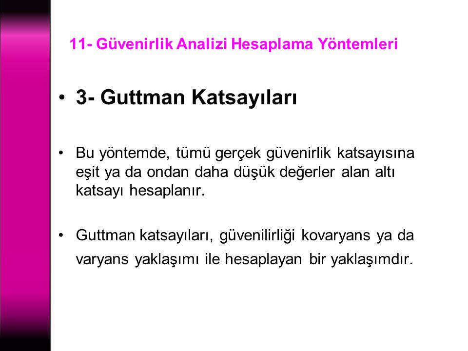 11- Güvenirlik Analizi Hesaplama Yöntemleri