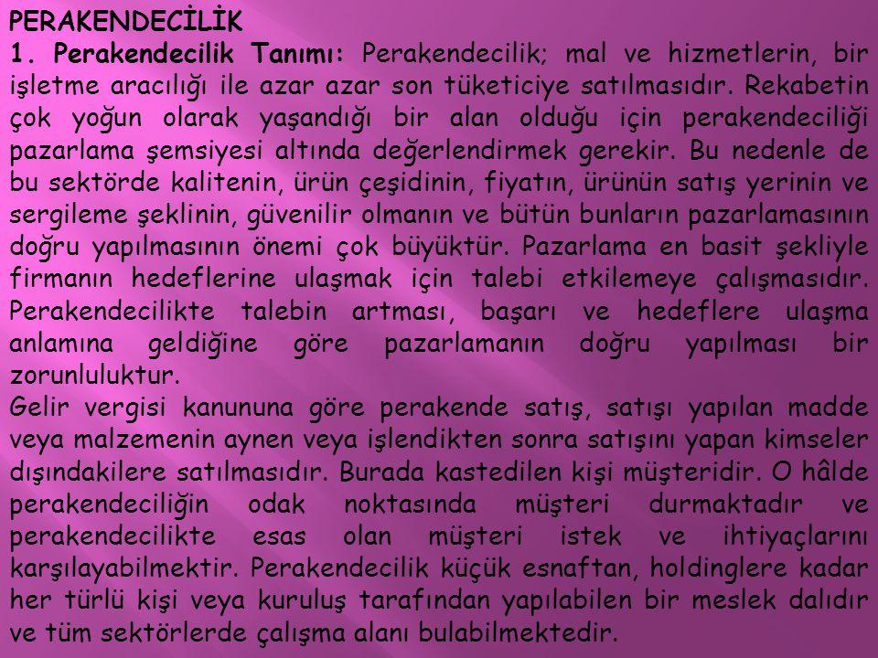 PERAKENDECİLİK
