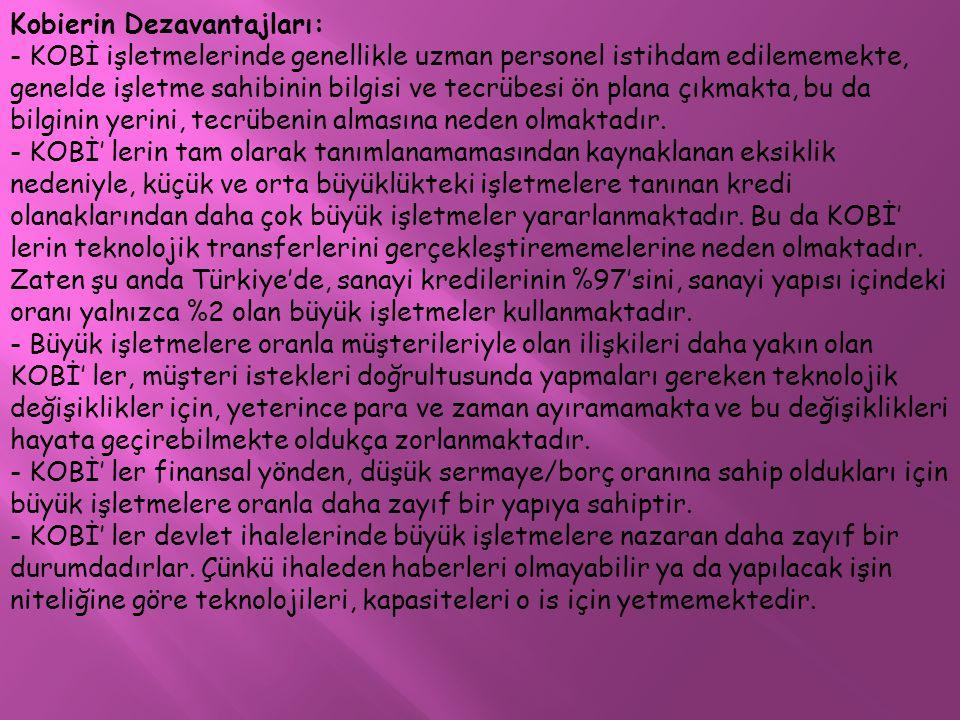 Kobierin Dezavantajları: