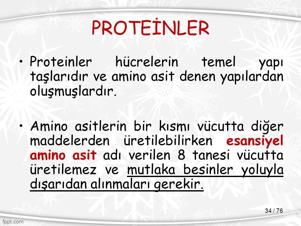 PROTEİNLER Proteinler hücrelerin temel yapı taşlarıdır ve amino asit denen yapılardan oluşmuşlardır.