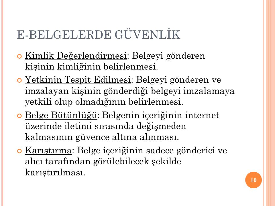E-BELGELERDE GÜVENLİK