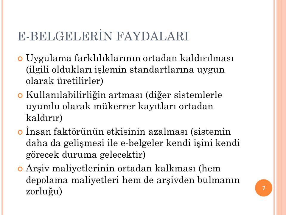 E-BELGELERİN FAYDALARI