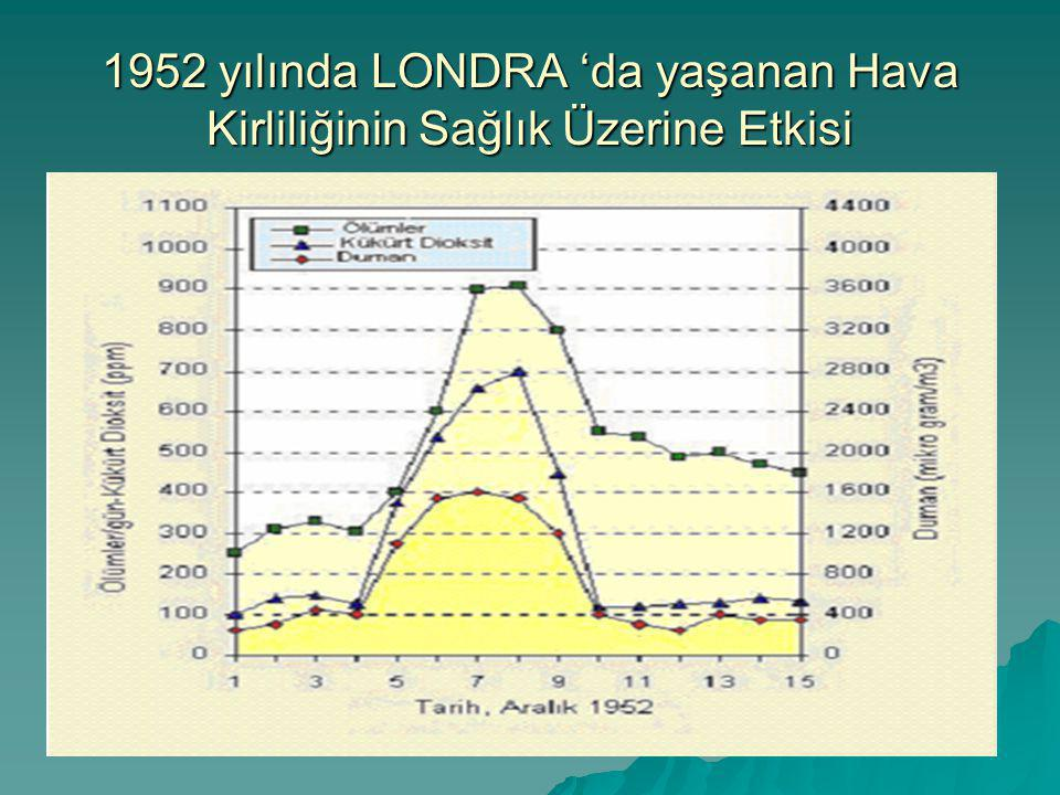 1952 yılında LONDRA 'da yaşanan Hava Kirliliğinin Sağlık Üzerine Etkisi