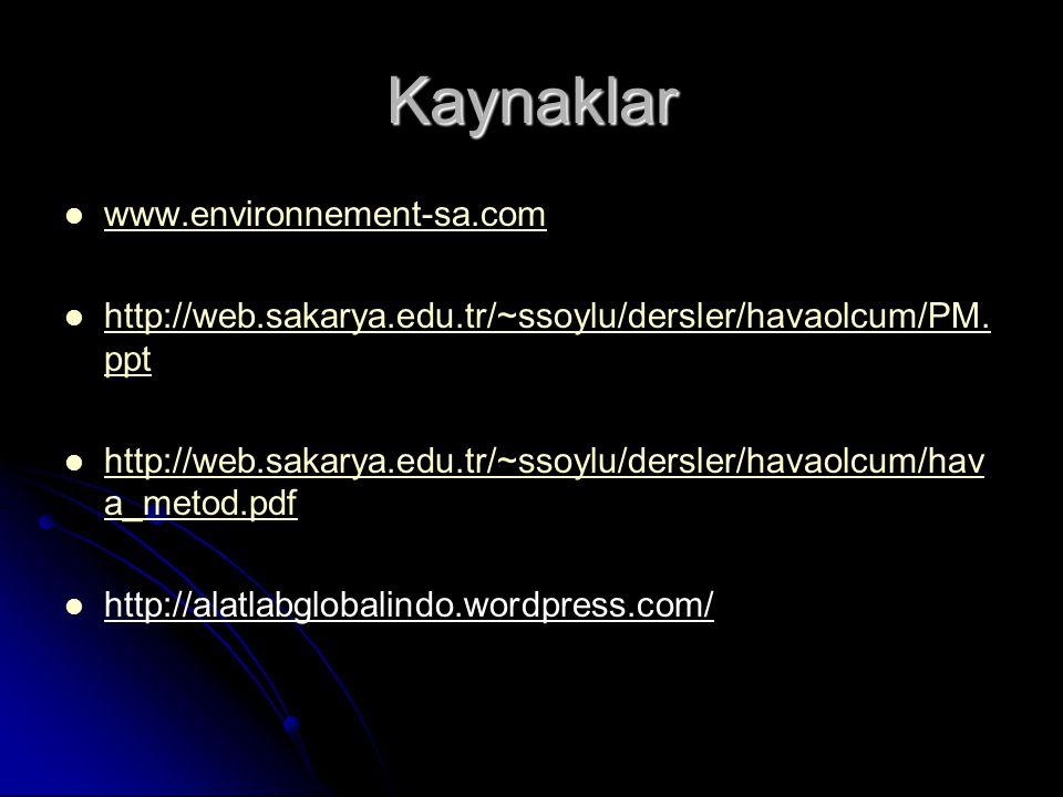 Kaynaklar www.environnement-sa.com
