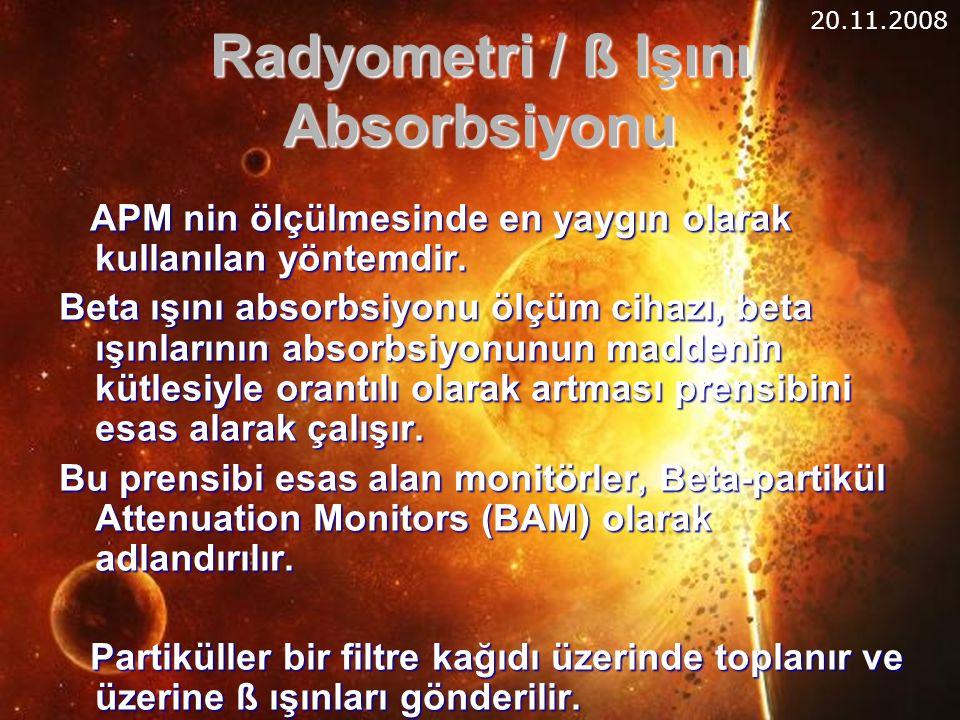 Radyometri / ß Işını Absorbsiyonu