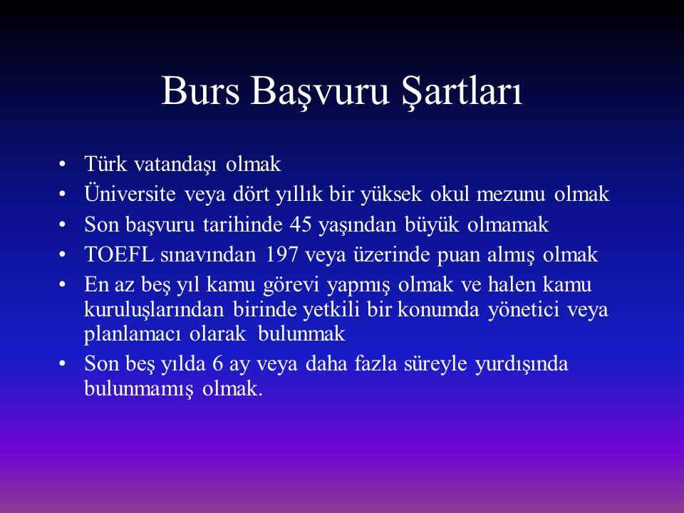 Burs Başvuru Şartları Türk vatandaşı olmak