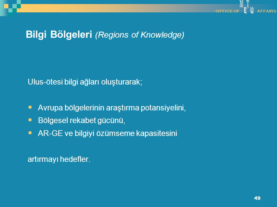 Bilgi Bölgeleri (Regions of Knowledge)