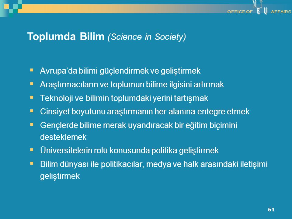 Toplumda Bilim (Science in Society)
