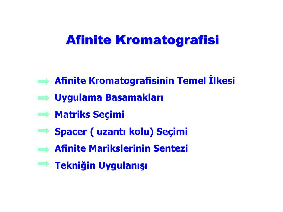 Afinite Kromatografisi