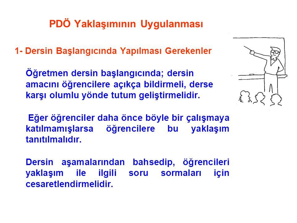 PDÖ Yaklaşımının Uygulanması