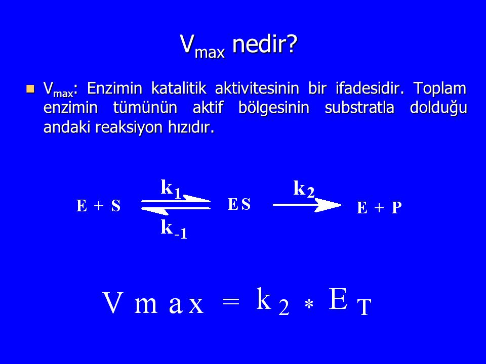 Vmax nedir