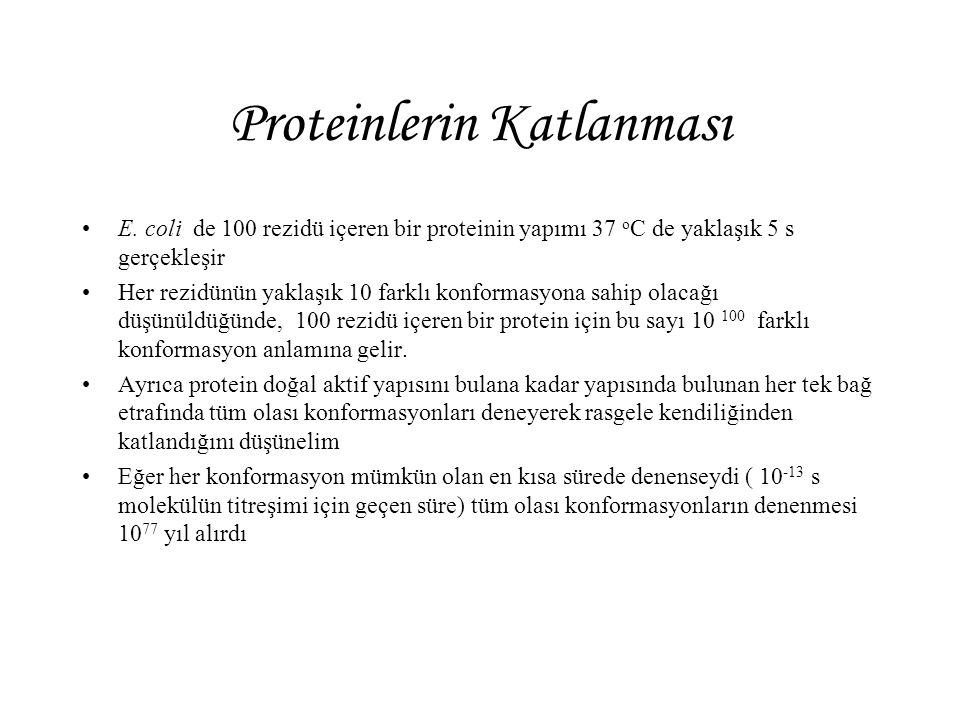 Proteinlerin Katlanması