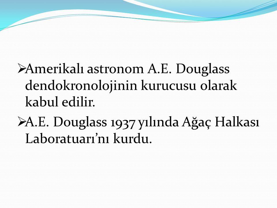 Amerikalı astronom A.E. Douglass dendokronolojinin kurucusu olarak kabul edilir.