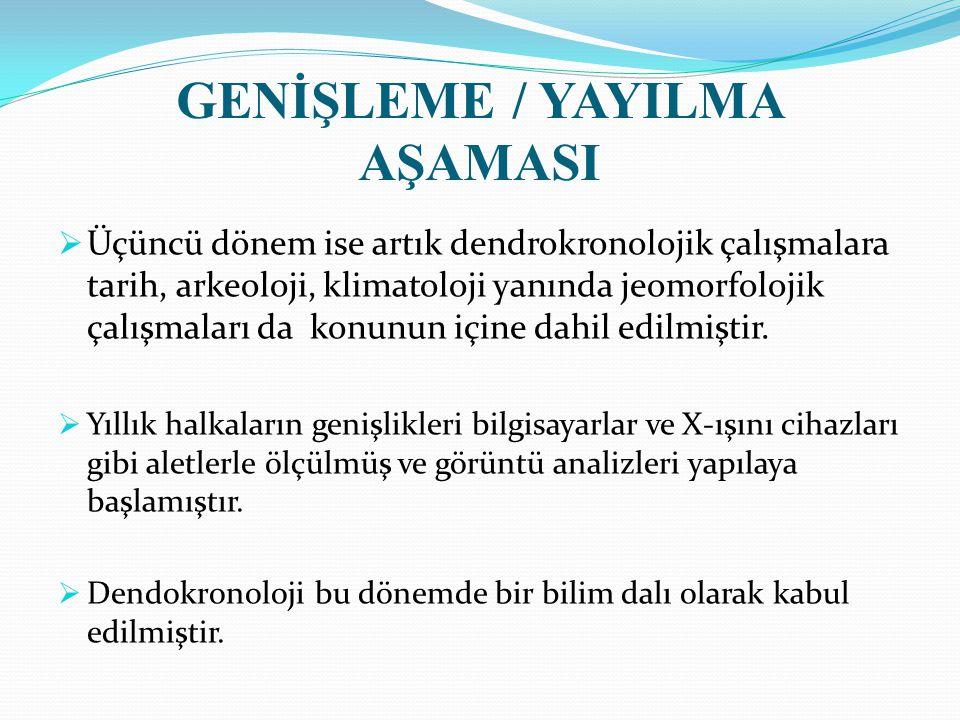 GENİŞLEME / YAYILMA AŞAMASI