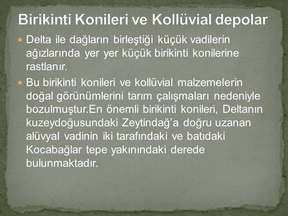 Birikinti Konileri ve Kollüvial depolar