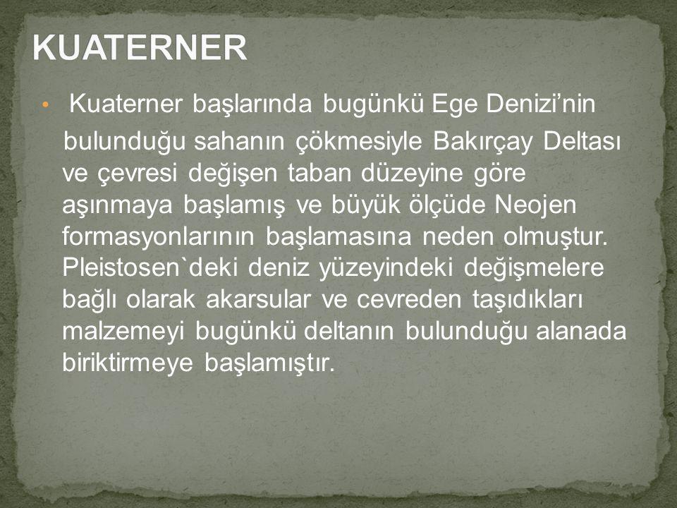 KUATERNER Kuaterner başlarında bugünkü Ege Denizi'nin