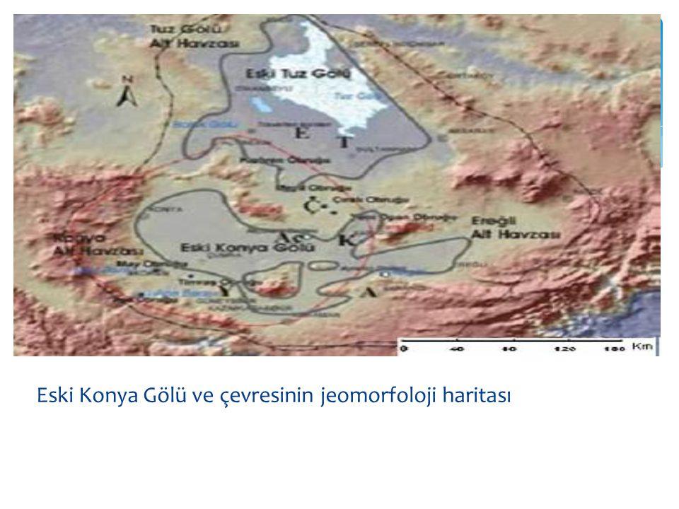 Eski Konya Gölü ve çevresinin jeomorfoloji haritası