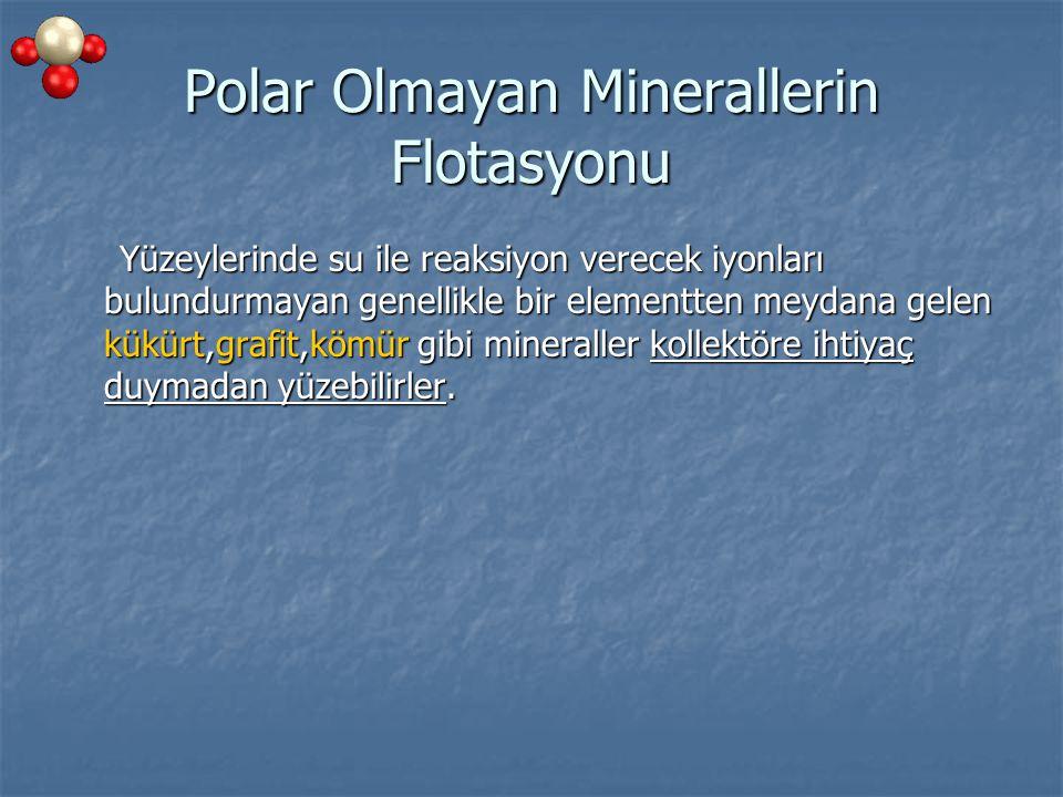 Polar Olmayan Minerallerin Flotasyonu
