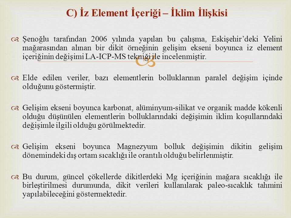 C) İz Element İçeriği – İklim İlişkisi