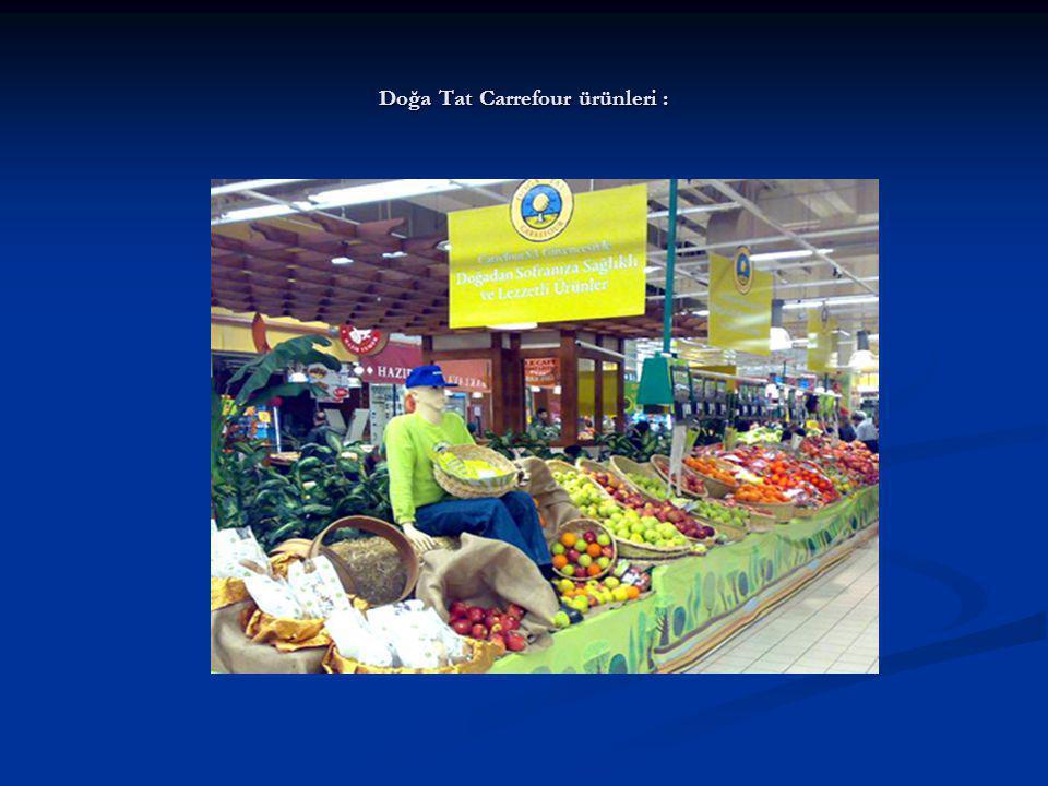 Doğa Tat Carrefour ürünleri :