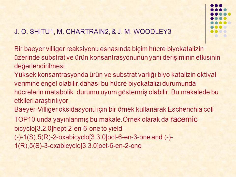 J. O. SHITU1, M. CHARTRAIN2, & J. M. WOODLEY3