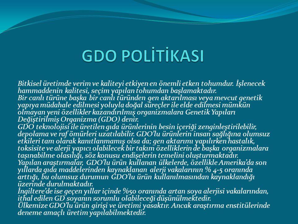 GDO POLİTİKASI