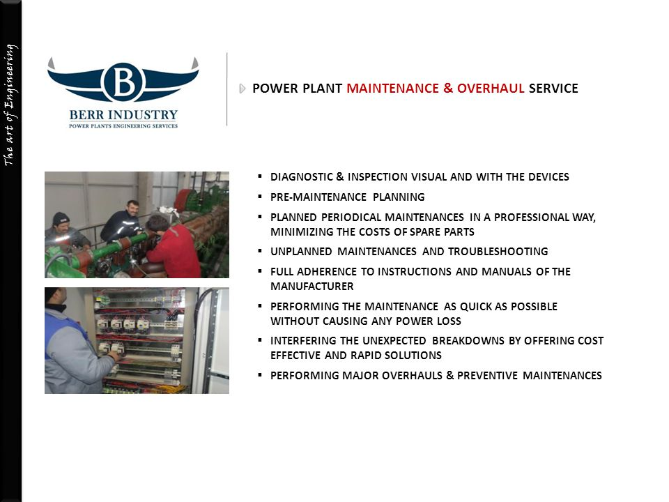 POWER PLANT MAINTENANCE & OVERHAUL SERVICE