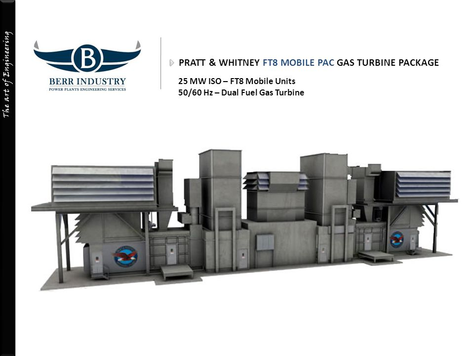 PRATT & WHITNEY FT8 MOBILE PAC GAS TURBINE PACKAGE