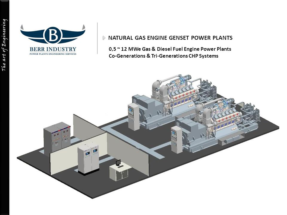 NATURAL GAS ENGINE GENSET POWER PLANTS