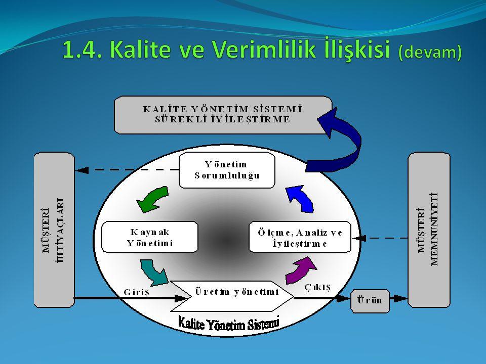 1.4. Kalite ve Verimlilik İlişkisi (devam)