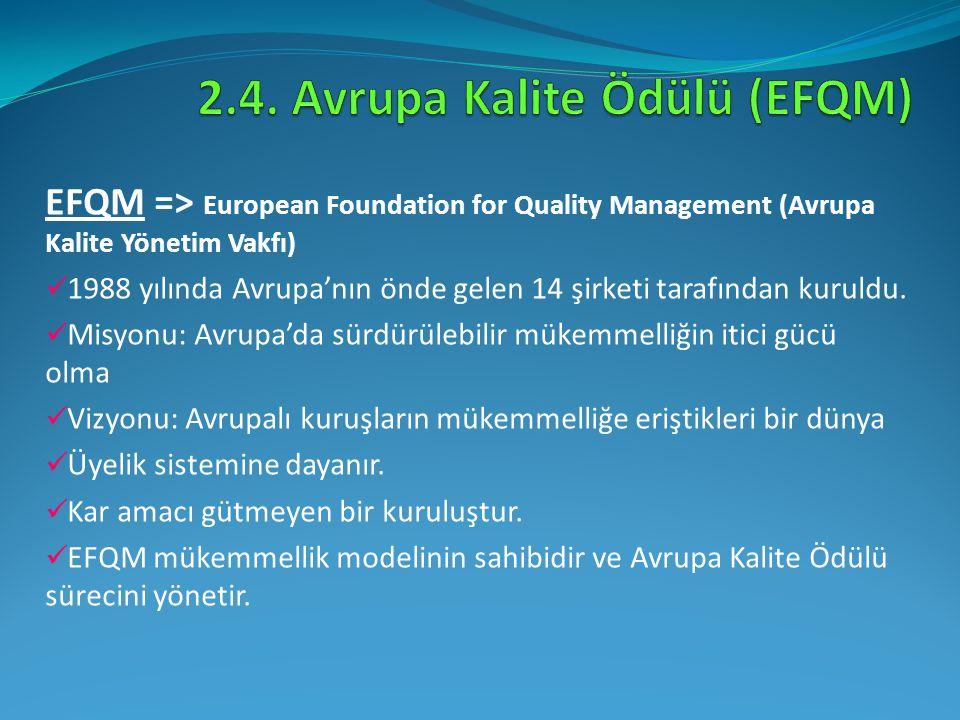 2.4. Avrupa Kalite Ödülü (EFQM)