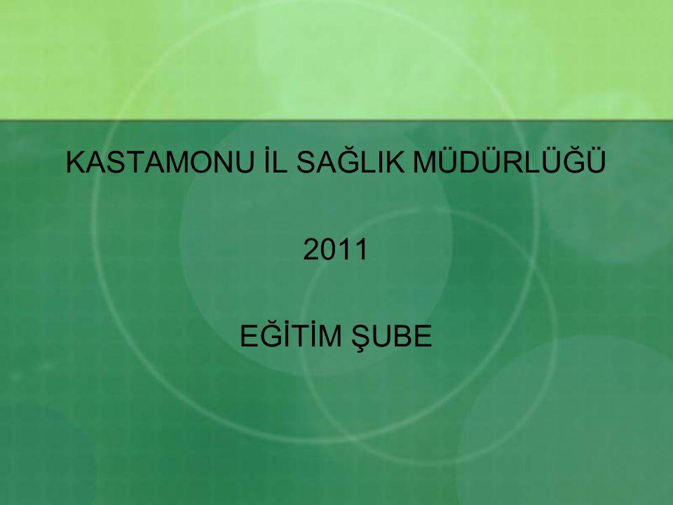 KASTAMONU İL SAĞLIK MÜDÜRLÜĞÜ 2011 EĞİTİM ŞUBE