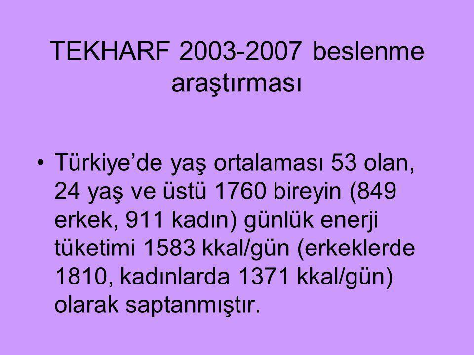 TEKHARF 2003-2007 beslenme araştırması