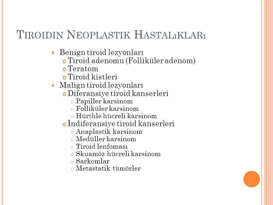 Tiroidin Neoplastik Hastalıkları