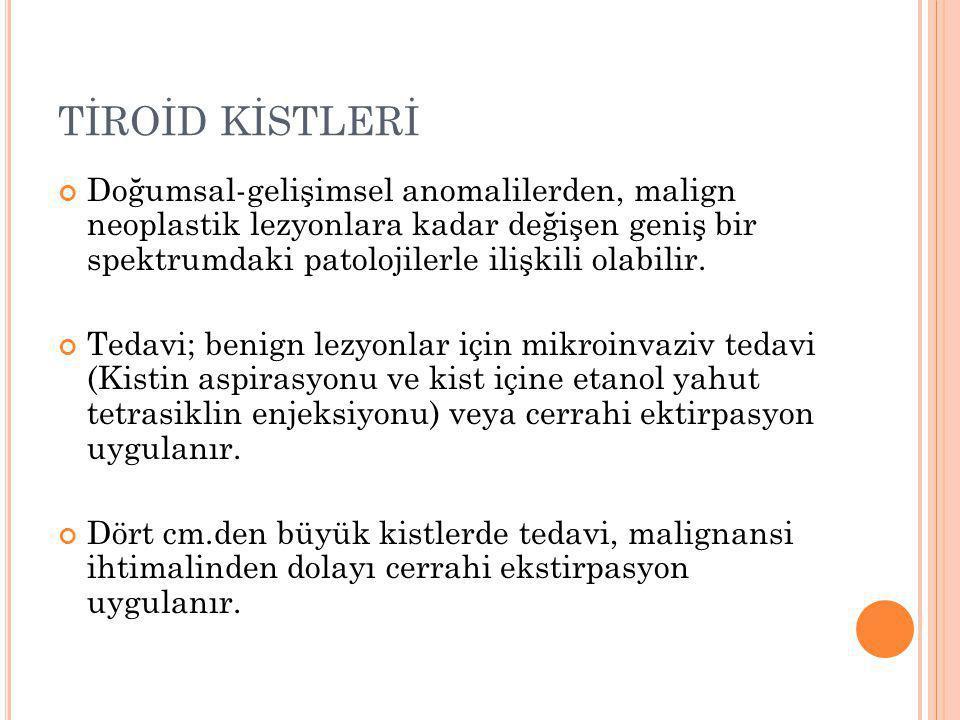 TİROİD KİSTLERİ