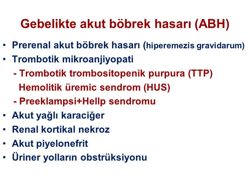 Gebelikte akut böbrek hasarı (ABH)
